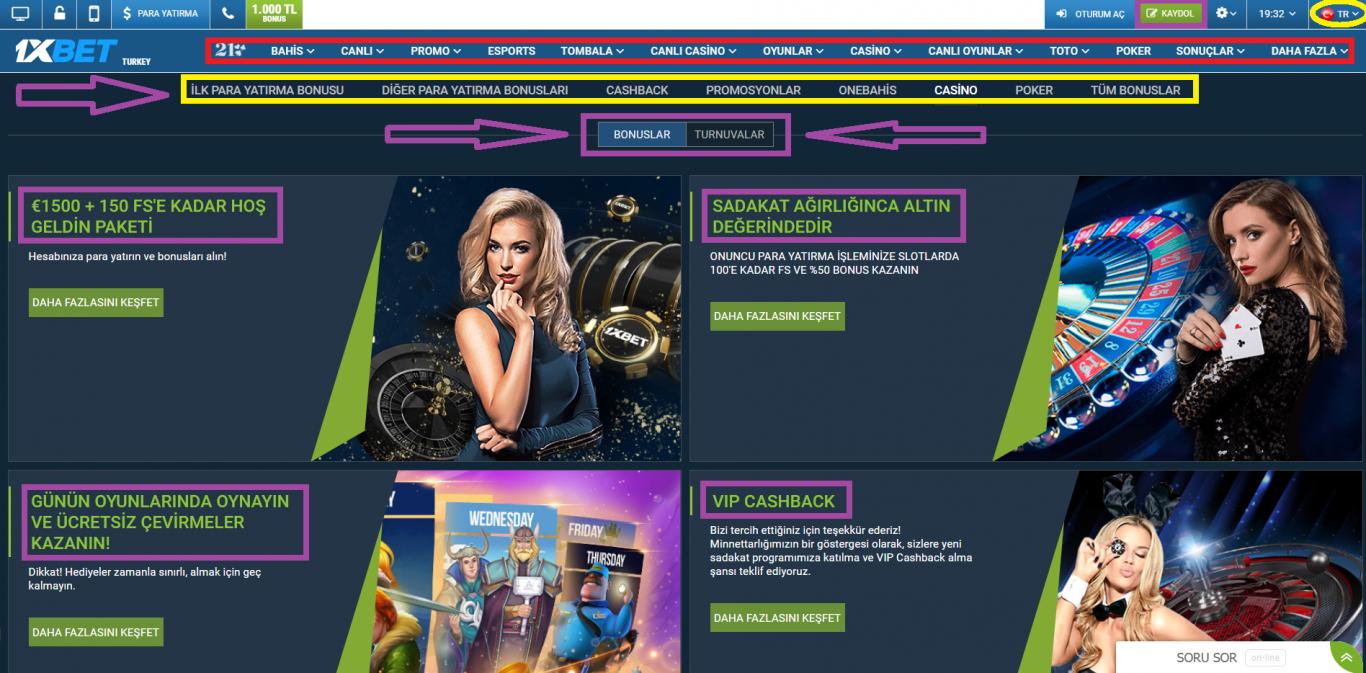 Hesabınıza ekstra bir 130 Euro bonus isterseniz 1xBet promo code kullanabilirsiniz